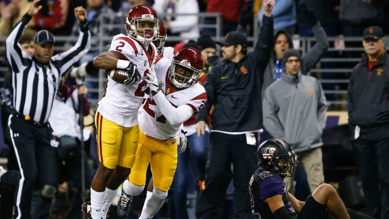 Adoree' Jackson gets last laugh by picking off Washington twice in USC's upset
