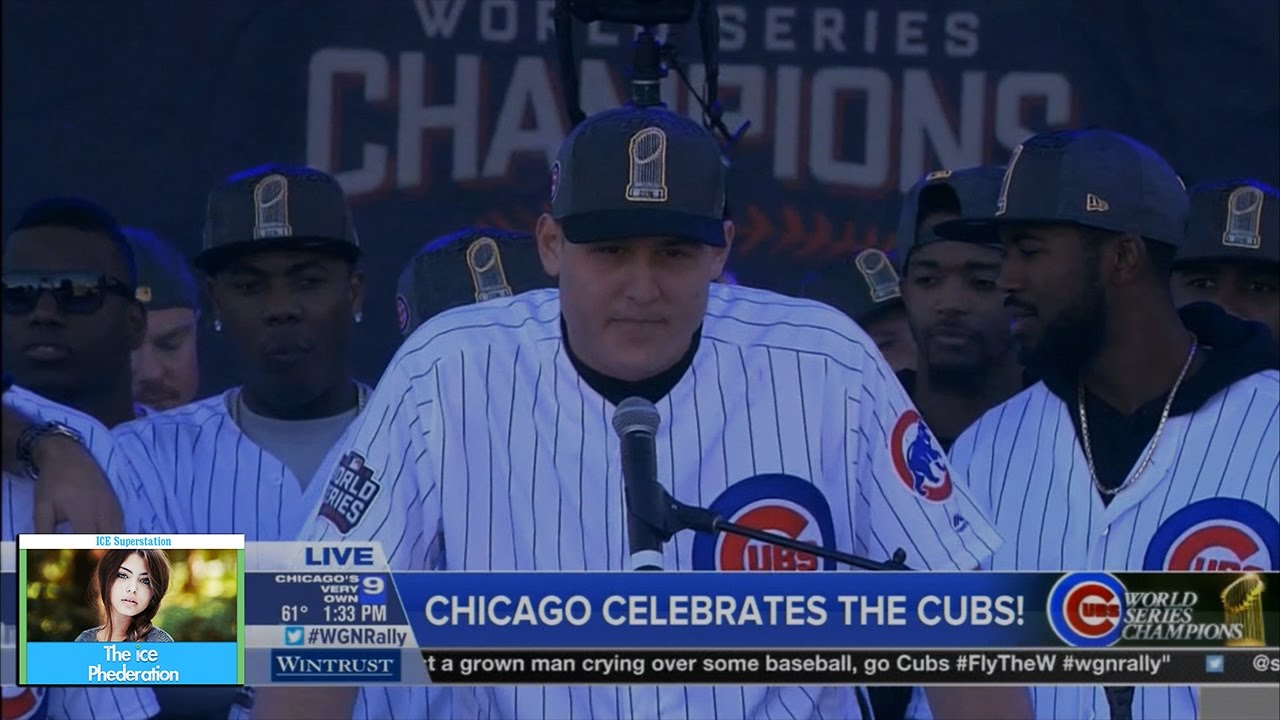 Anthony Rizzo's emotional speech at Cubs parade rally
