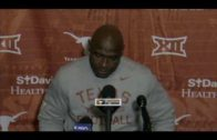 Charlie Strong in despair speaking about his future & Texas' loss to Kansas