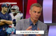 Colin Cowherd says he feels bad for Dallas Cowboys QB Tony Romo