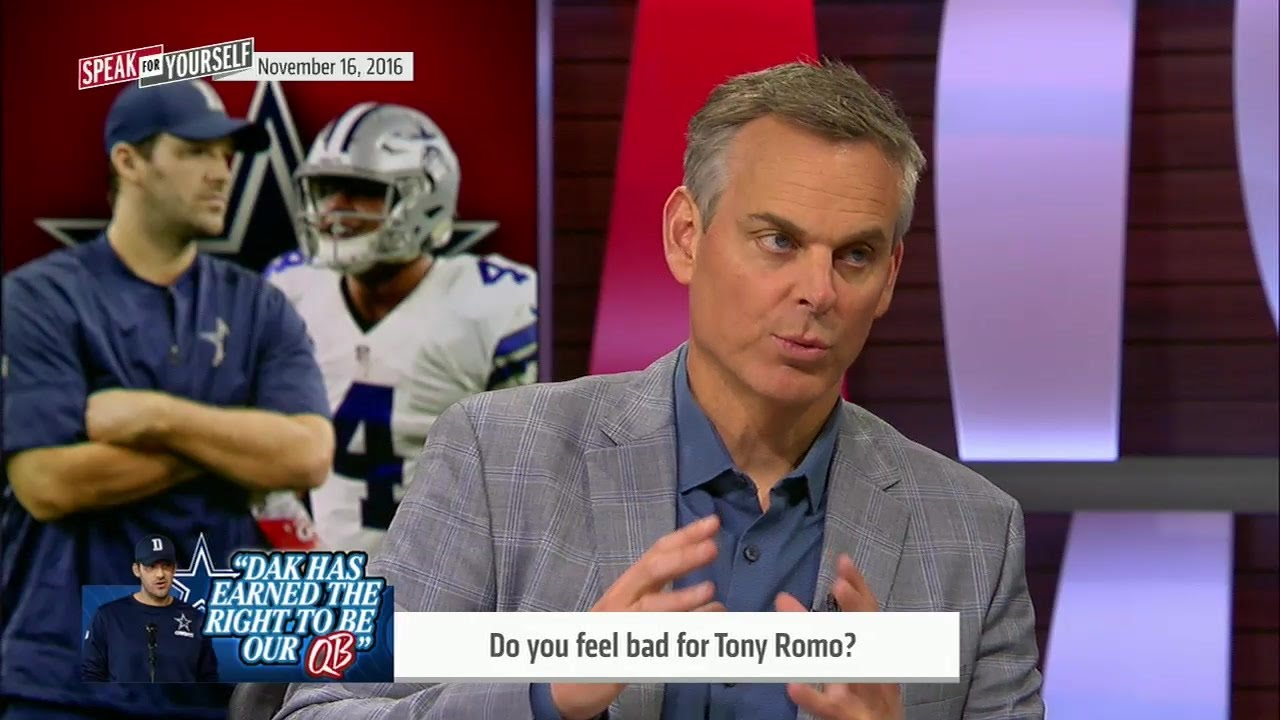 Colin Cowherd says he feels bad for Dallas Cowboys QB Tony Romo
