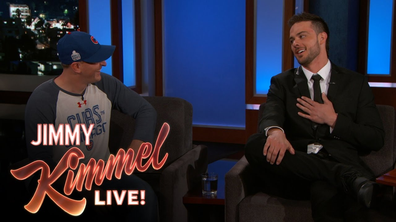 Crying Cubs fan meets Kris Bryant on Jimmy Kimmel