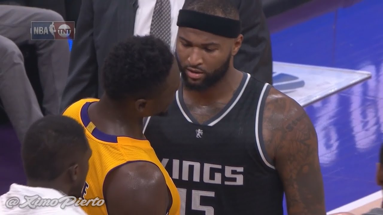 DeMarcus Cousins & Julius Randle exchange words in scuffle