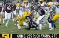 Derrius Guice sets LSU's single game rushing record vs. Texas A&M