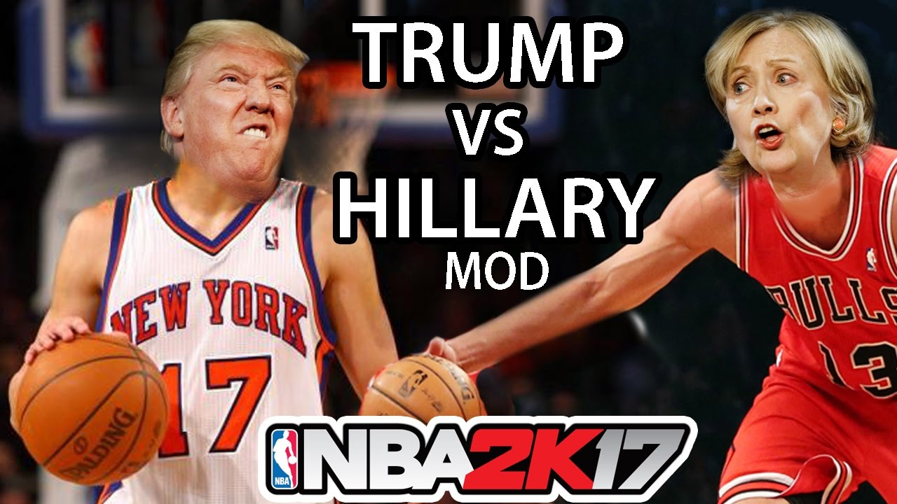Donald Trump & Hillary Clinton face off on the basketball court in NBA 2K