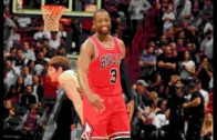 Dwyane Wade with a vintage reverse layup in his return to Miami