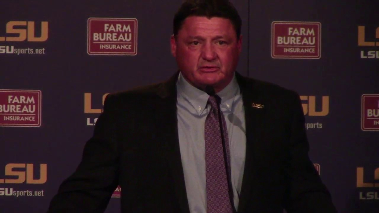 Ed Orgeron talks about his expectations as permanent LSU football coach