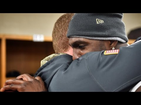 Emotional Dez Bryant presented with Cowboys game ball after his father's passing