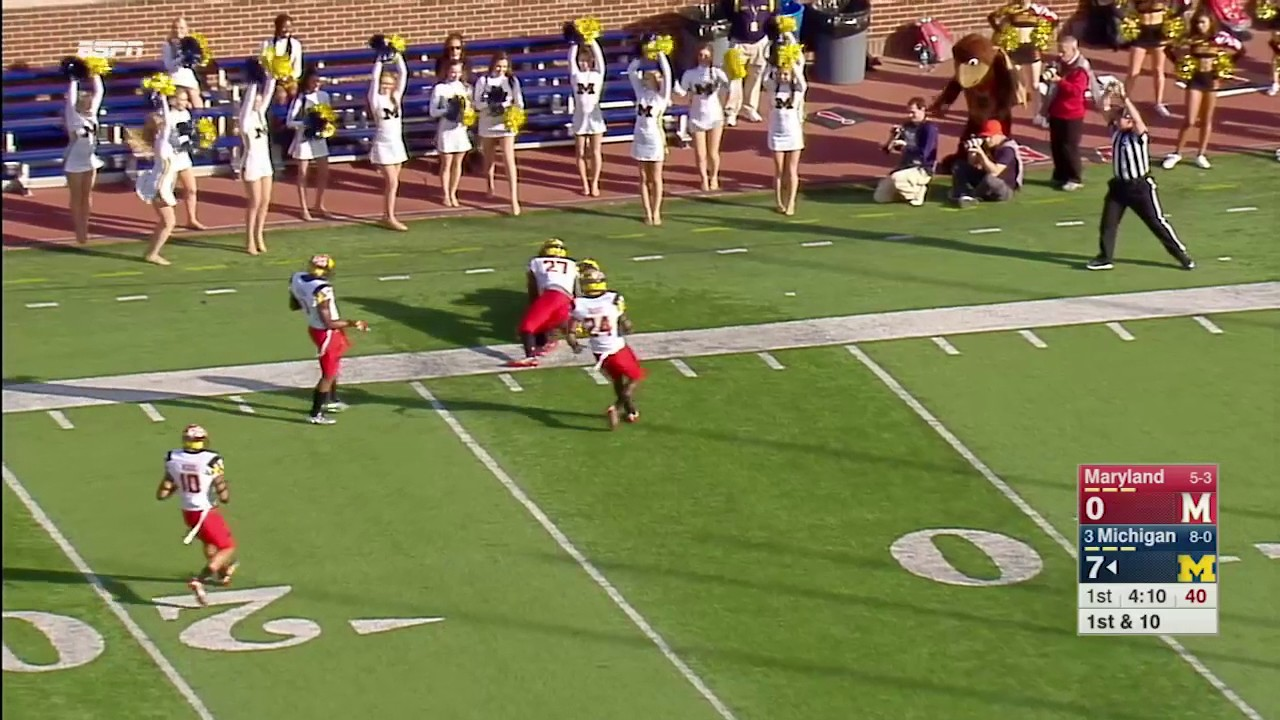 Jabrill Peppers & Michigan convert trick play vs. Maryland