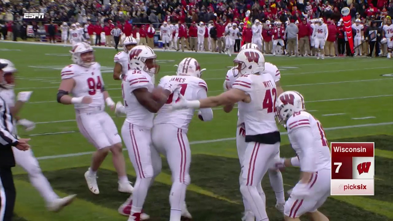 JJ Watt's brother T.J. Watt gets a pick six vs. Purdue
