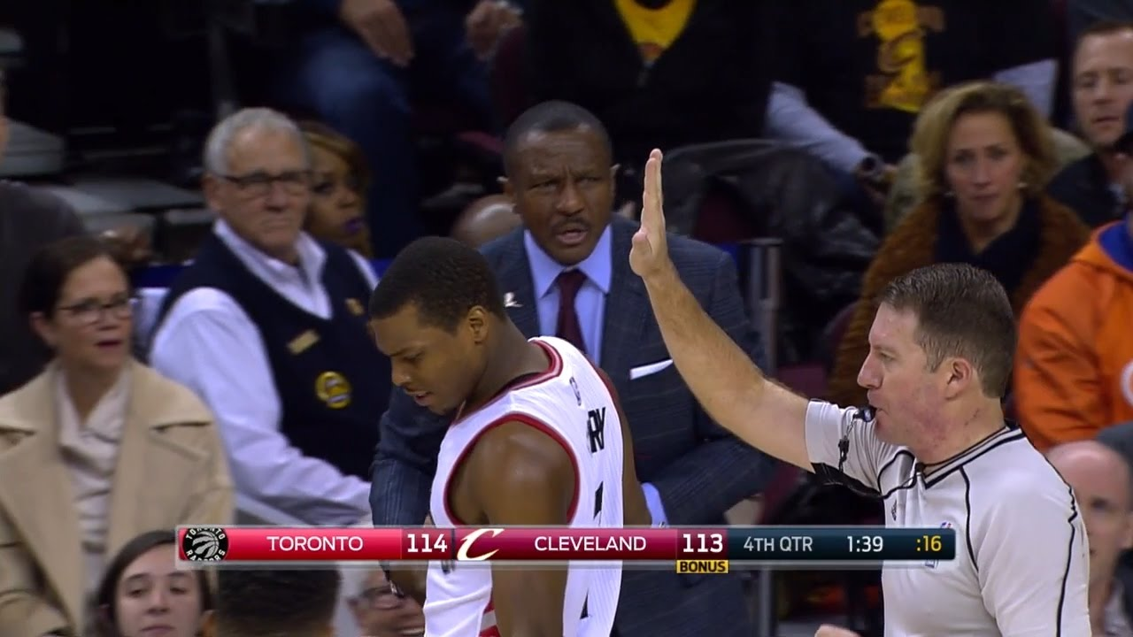 Kyle Lowry gets a technical foul for bouncing ball too high