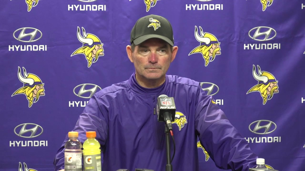Mike Zimmer says the Vikings continue to shoot themselves in the foot