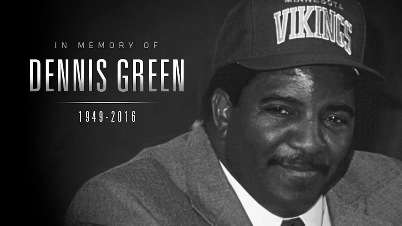 Minnesota Vikings pay tribute to Coach Dennis Green
