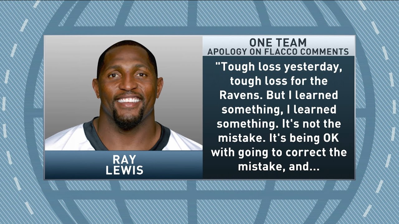 Ray Lewis apologizes for his comments on Joe Flacco