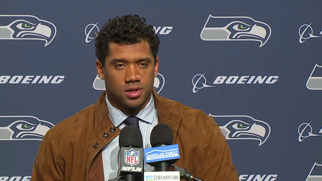 Russell Wilson speaks on the Seahawks controversial win over the Bills