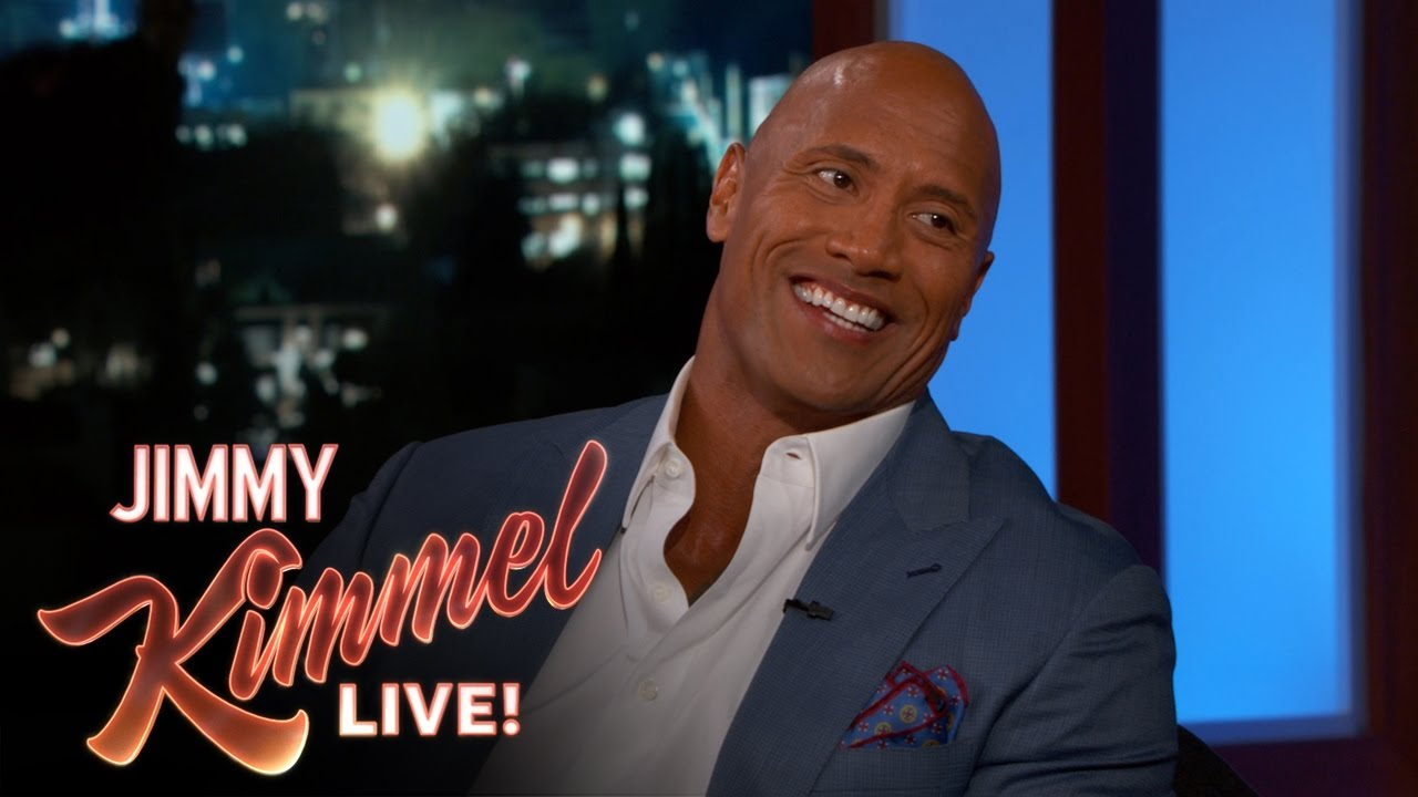 The Rock relives his criminal past on Jimmy Kimmel