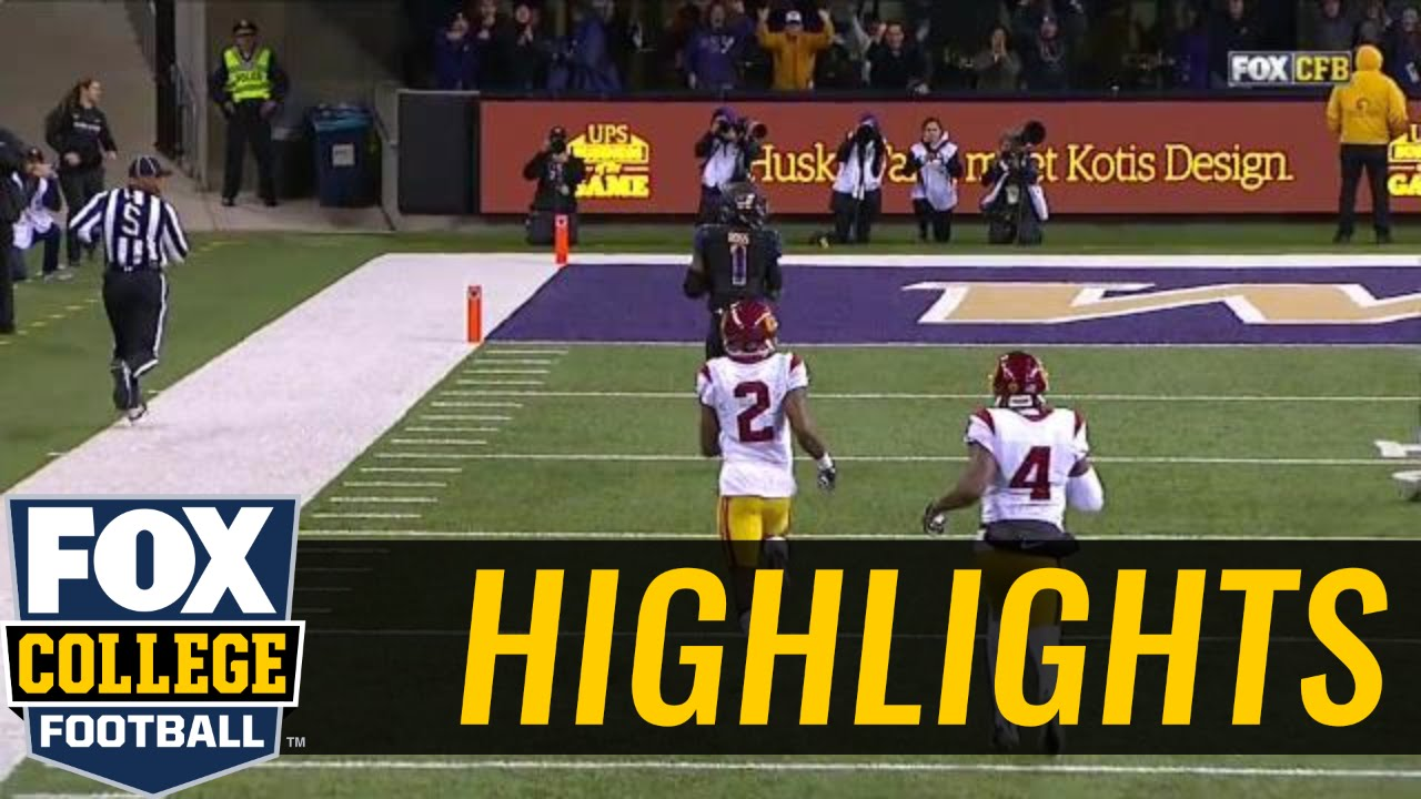 Washington's John Ross breaks USC's Adoree' Jackson's ankles for 70 yard touchdown