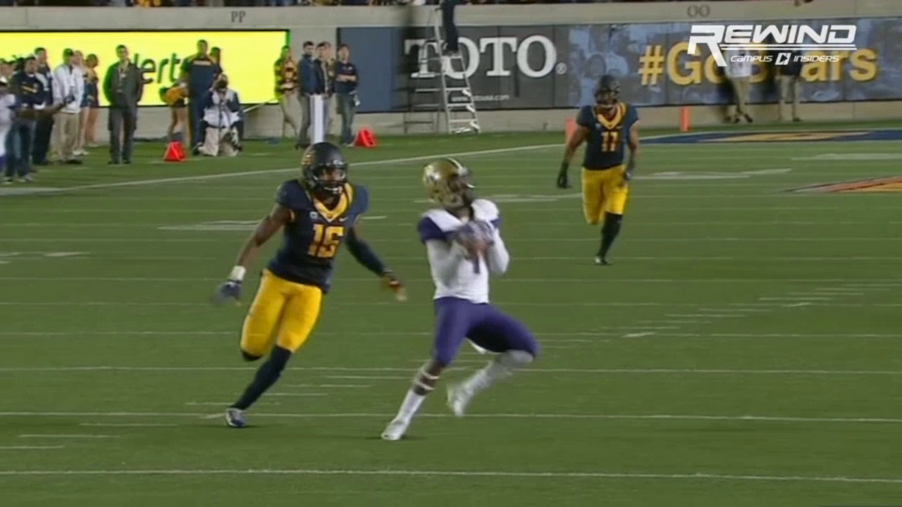 Washington's John Ross gashes 4 Cal defenders for the Touchdown