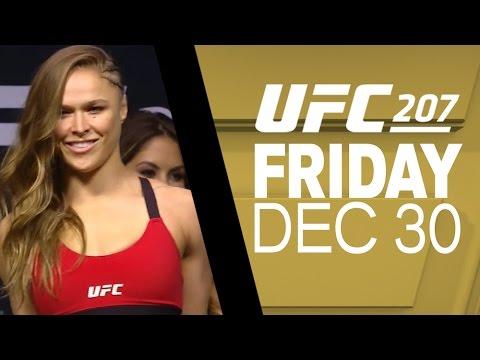 Amanda Nunes & Ronda Rousey UFC 207 weigh-in's