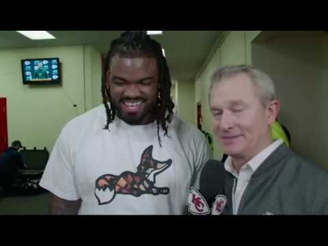 Chiefs defensive lineman Dontari Poe speaks on his historical touchdown pass