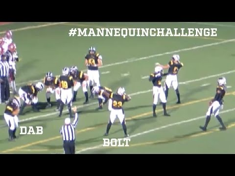 Del Oro High School does the Mannequin Challenge during their football game