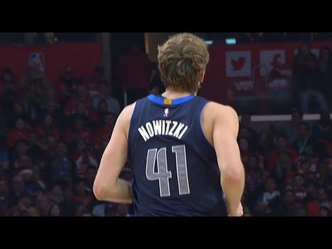Dirk Nowitzki scores 17 points in his return to action