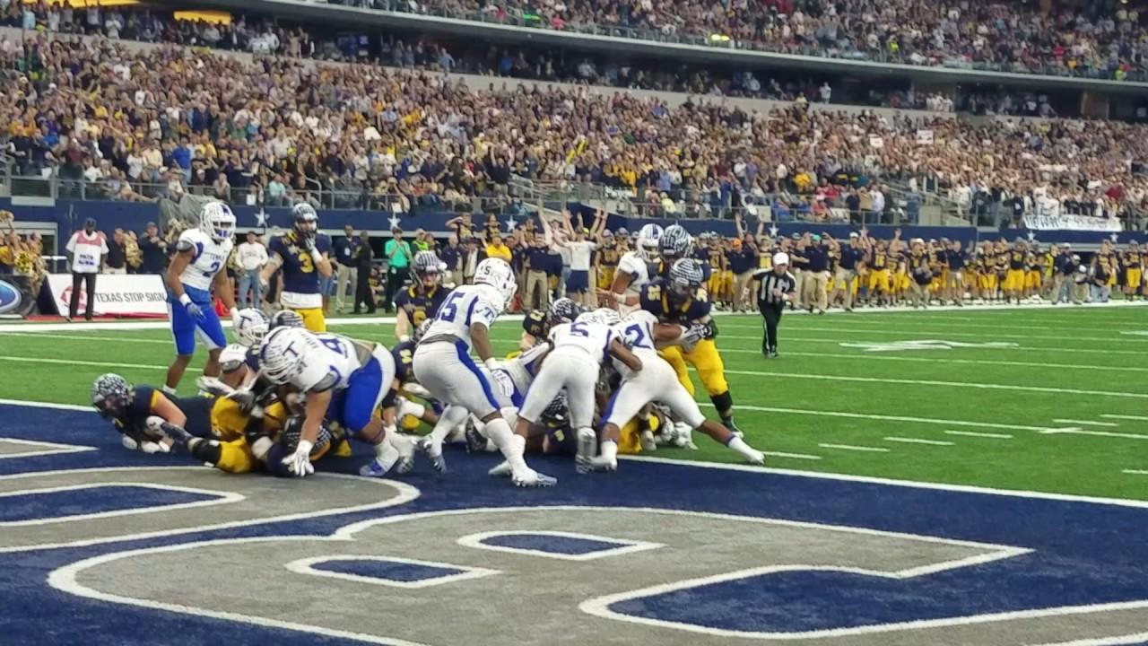 Fanatics View Live in Arlington: John Stephen Jones scores a rushing touchdown for Highland Park vs. Temple