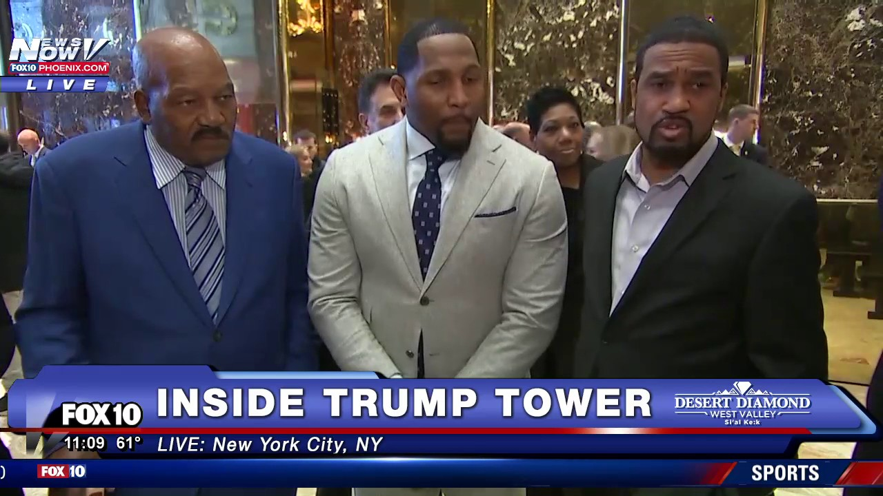 Jim Brown & Ray Lewis speak on their meeting with President Elect Donald Trump