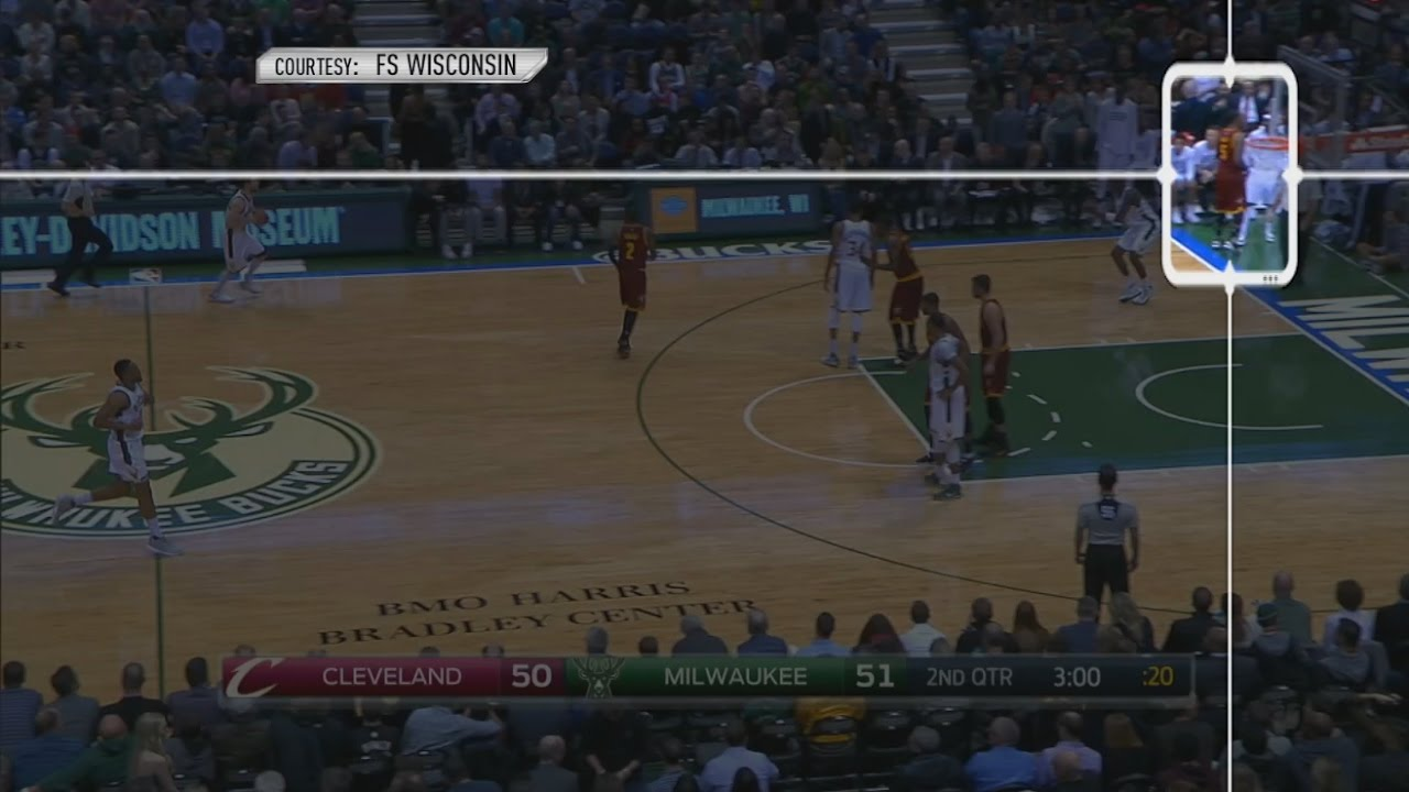 JR Smith's man scores as he talks to Jason Terry