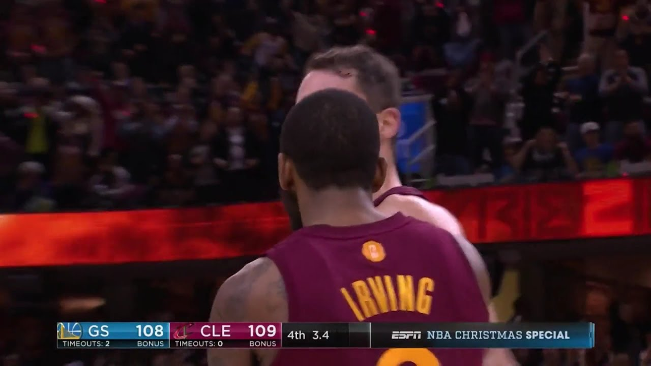 Kyrie Irving hits game winning shot to beat Warriors on Christmas