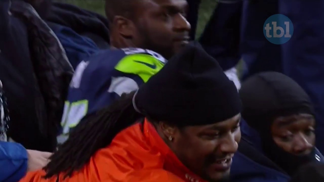 Marshawn Lynch showed up on the Seattle Seahawks sideline