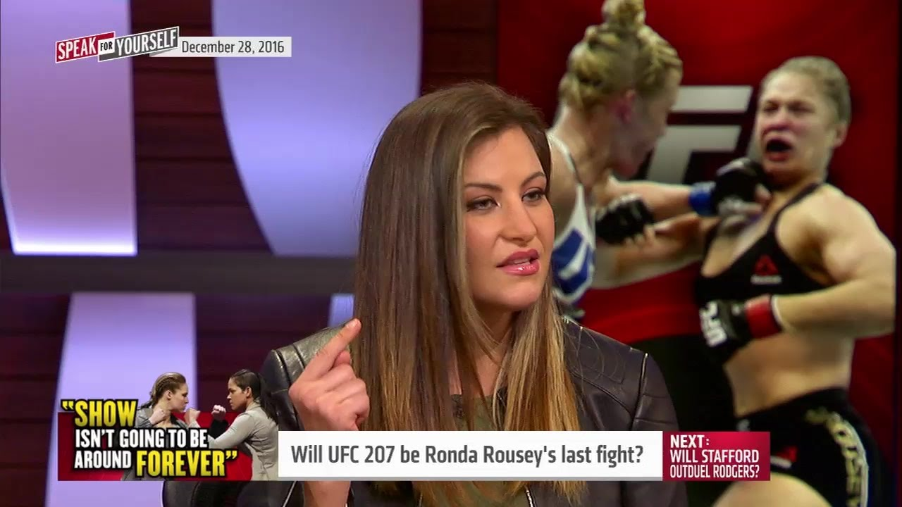 Miesha Tate says Ronda Rousey is finished as a fighter if she loses