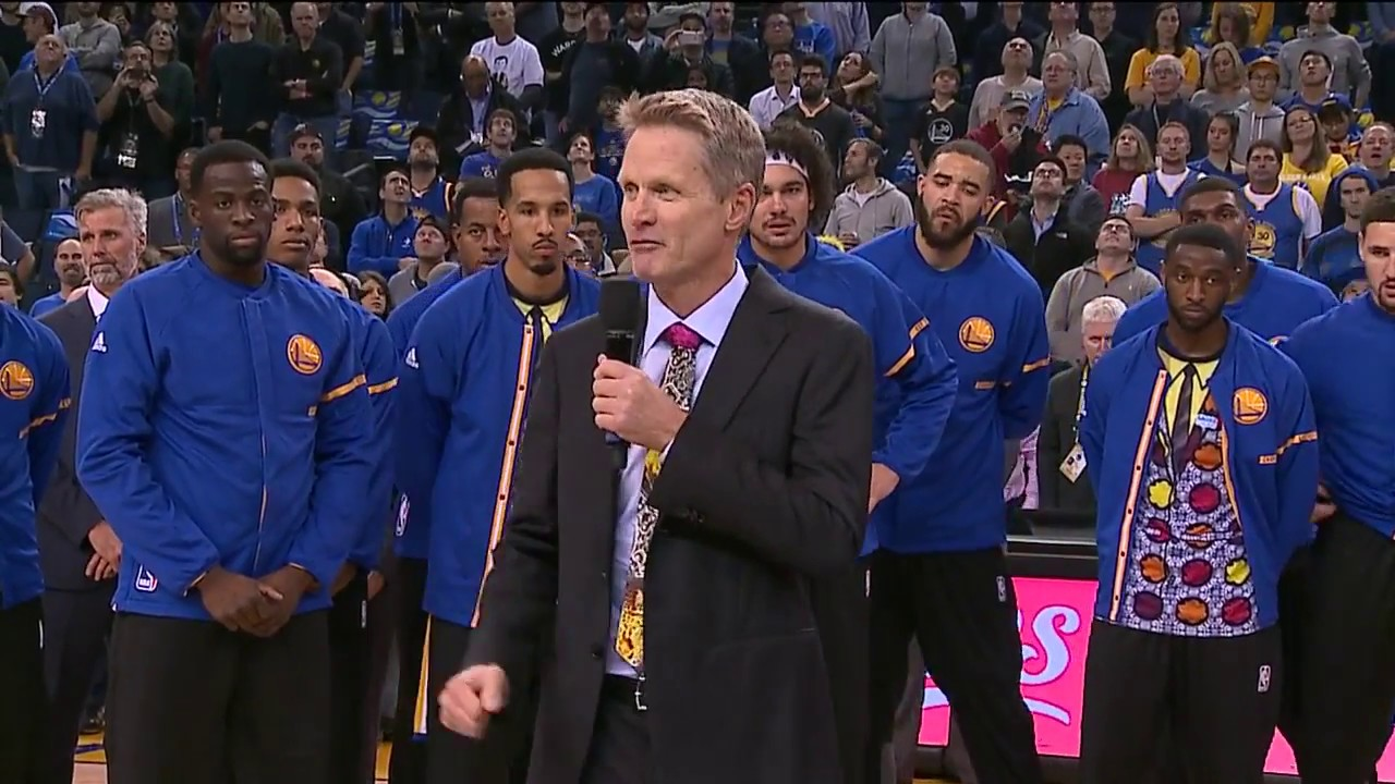 Steve Kerr pays tribute to Craig Sager