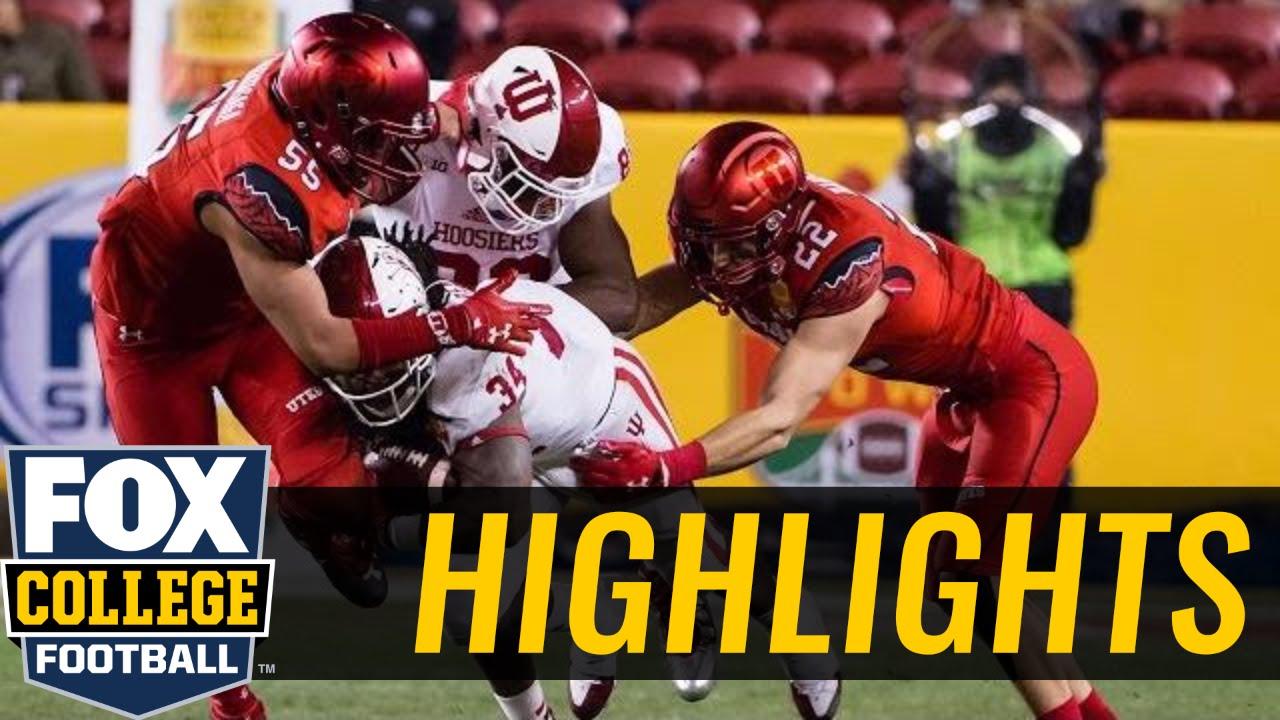 Utah beats Indiana in 2016 Foster Farms Bowl