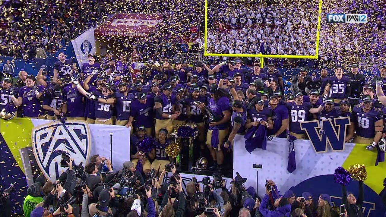 Washington Huskies awarded 2016 Pac-12 Championship Trophy