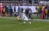 Washington's John Ross makes one handed catch before Jake Browning gets sacked