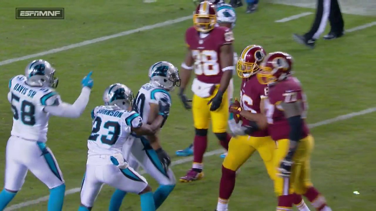 Washington's Jordan Reed ejected for throwing punches at Panthers