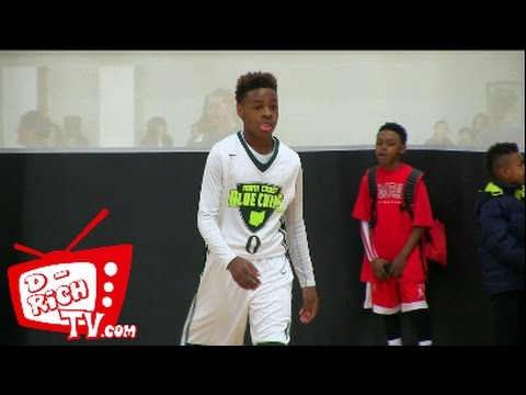 12 year old LeBron James Jr. shows off his passing, dribbling & scoring skills