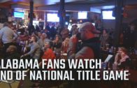Alabama fan reactions watching the end of the 2017 National Championship