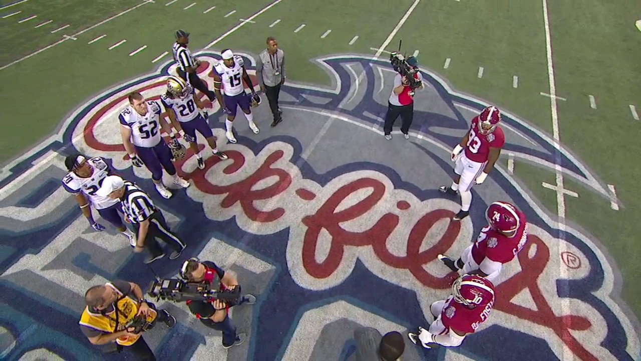 Alabama refuses to shake hands with Washington after coin toss