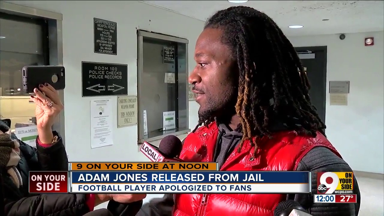 Bengals CB Adam Jones apologizes for being arrested & maintains his innocence