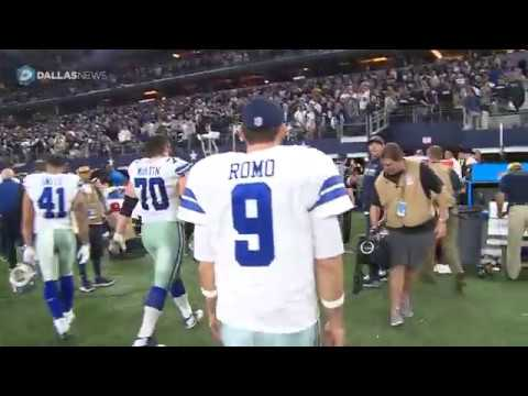 Cowboys QB Tony Romo walks off the field for perhaps the last time