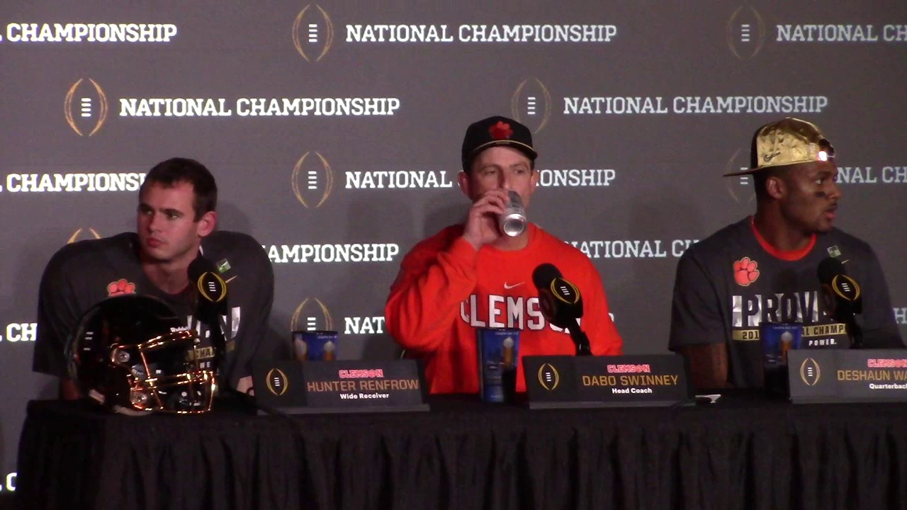 Dabo Swinney postgame press conference after winning National Championship