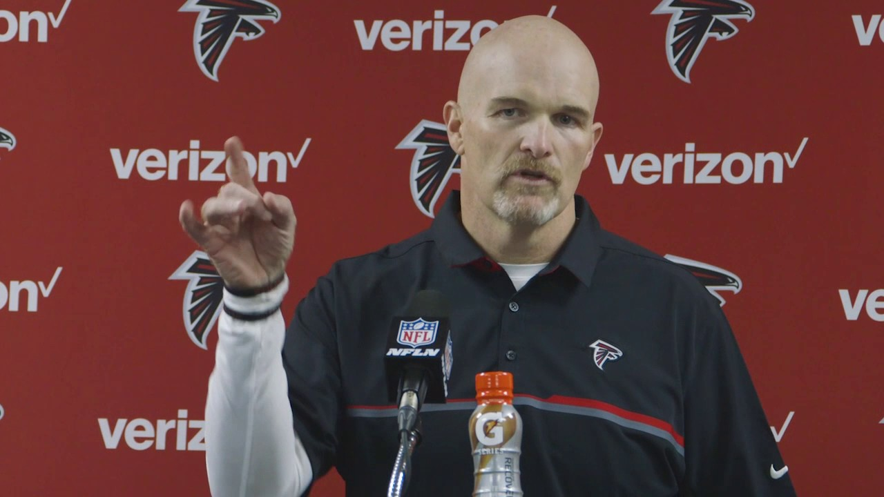 Dan Quinn speaks on the Falcons playoff win over Seattle