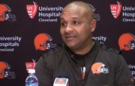 "Hue Jackson says ""I'll be swimming in the lake"" if Browns go 1-15 again"