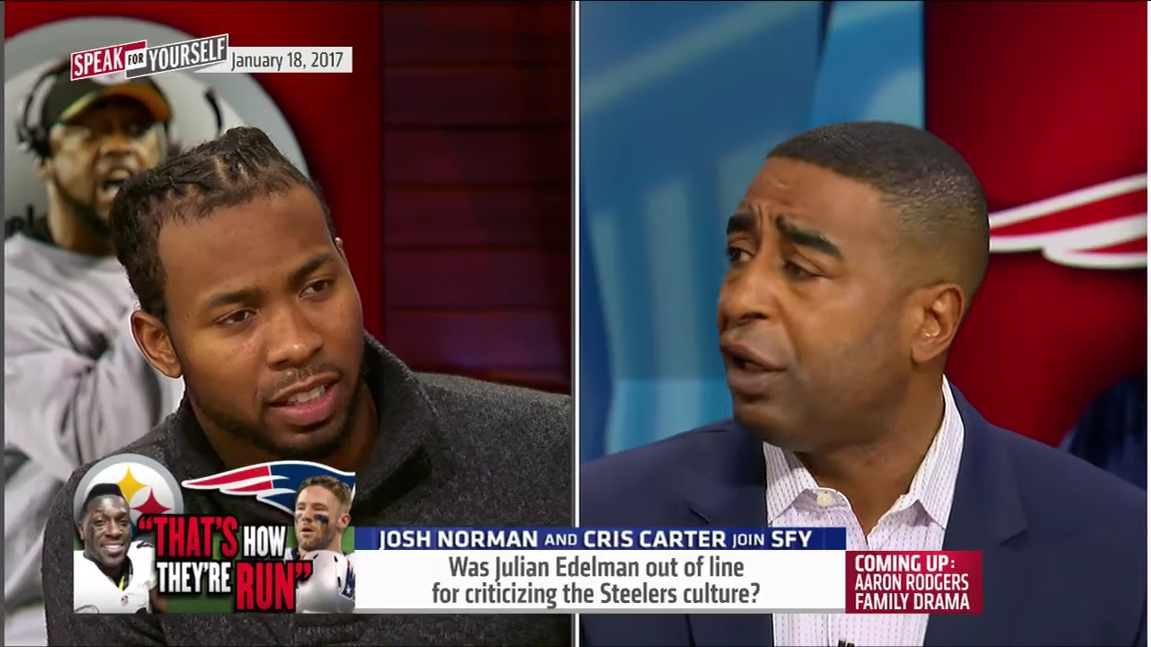 Josh Norman & Cris Carter react to Julian Edelman's comments on Pittsburgh