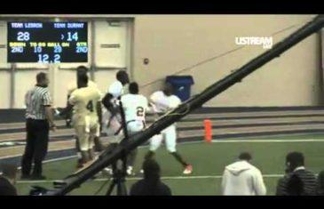 LeBron James vs. Kevin Durant flag football highlights