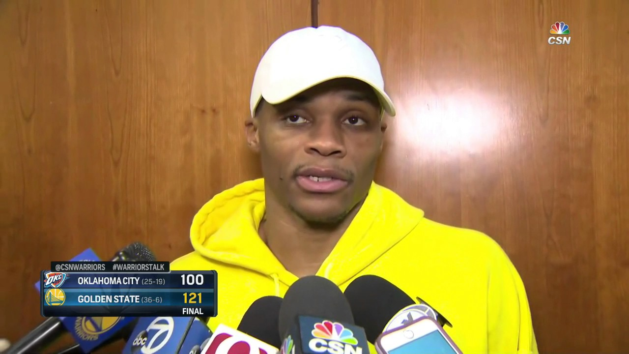 Russell Westbrook after finding out Zaza Pachulia stood over him: ''I'm going to get his ass back