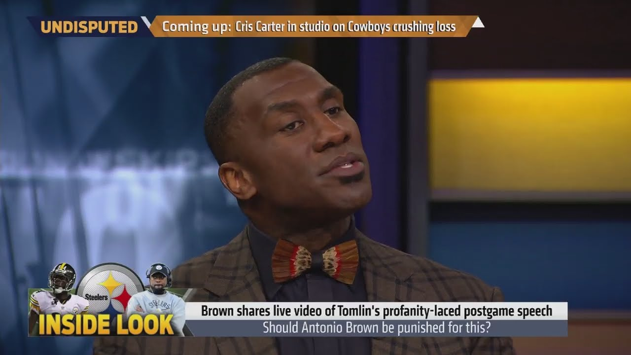 Shannon Sharpe & Skip Bayless react to Antonio Brown live streaming Mike Tomlin