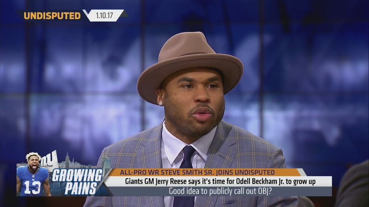 Steve Smith reacts to Odell Beckham Jr.'s playoff loss antics